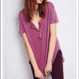 We the free plum downtown girl henley tee